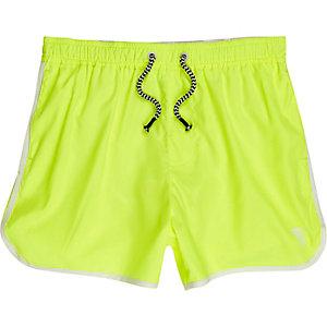 Boys fluro yellow runner swim trunks
