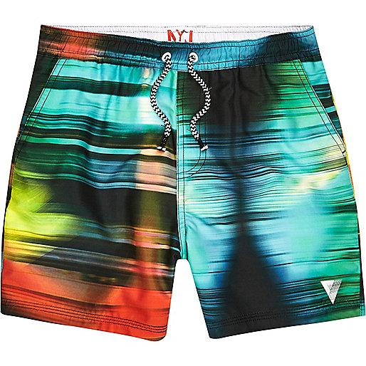 Boys blue colour blur swim shorts