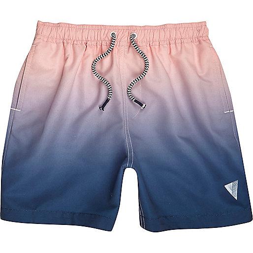 Boys pink and blue dip dye swim trunks