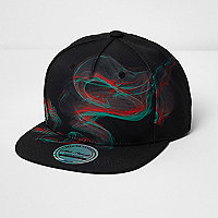 Boys black laser print cap