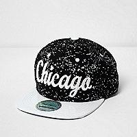 Casquette imprimé Chicago et taches de peinture noire pour garçon