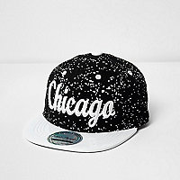 Mini boys Chicago print paint splatter cap