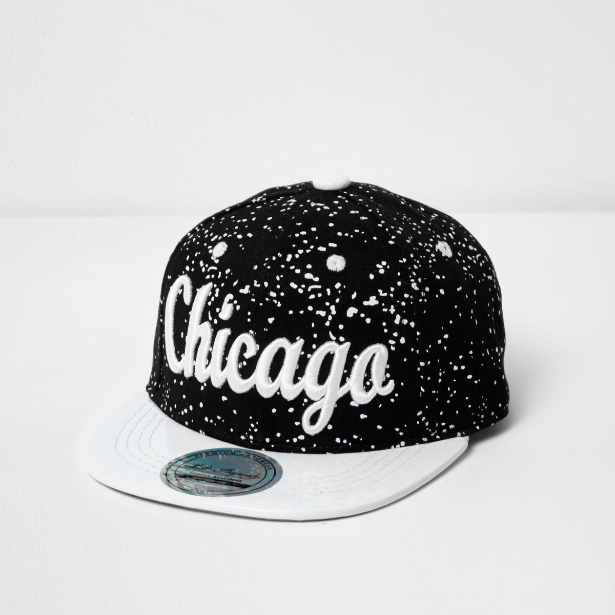 Mini boys Chicago print paint splatter cap