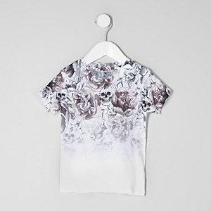 Mini - T-shirt met vervaagde doodshoofdprint voor jongens