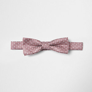 Boys pink spot bow tie