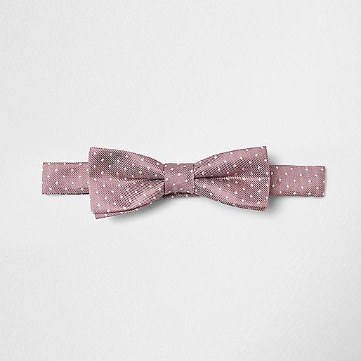 Boys pink spot bow tie