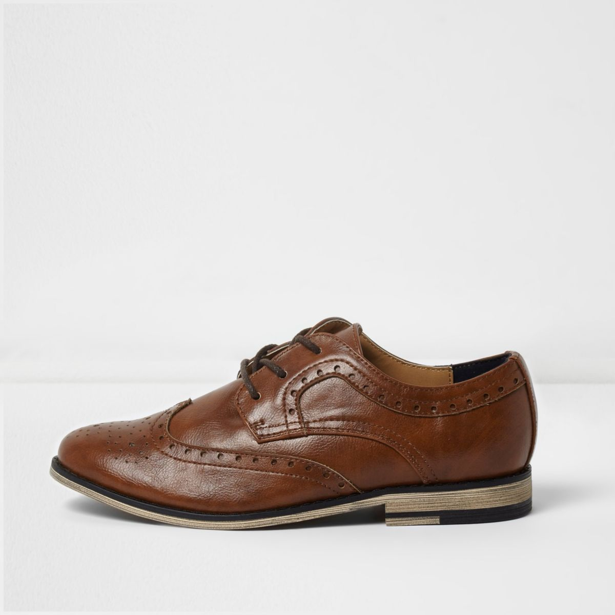 Boys tan brogues