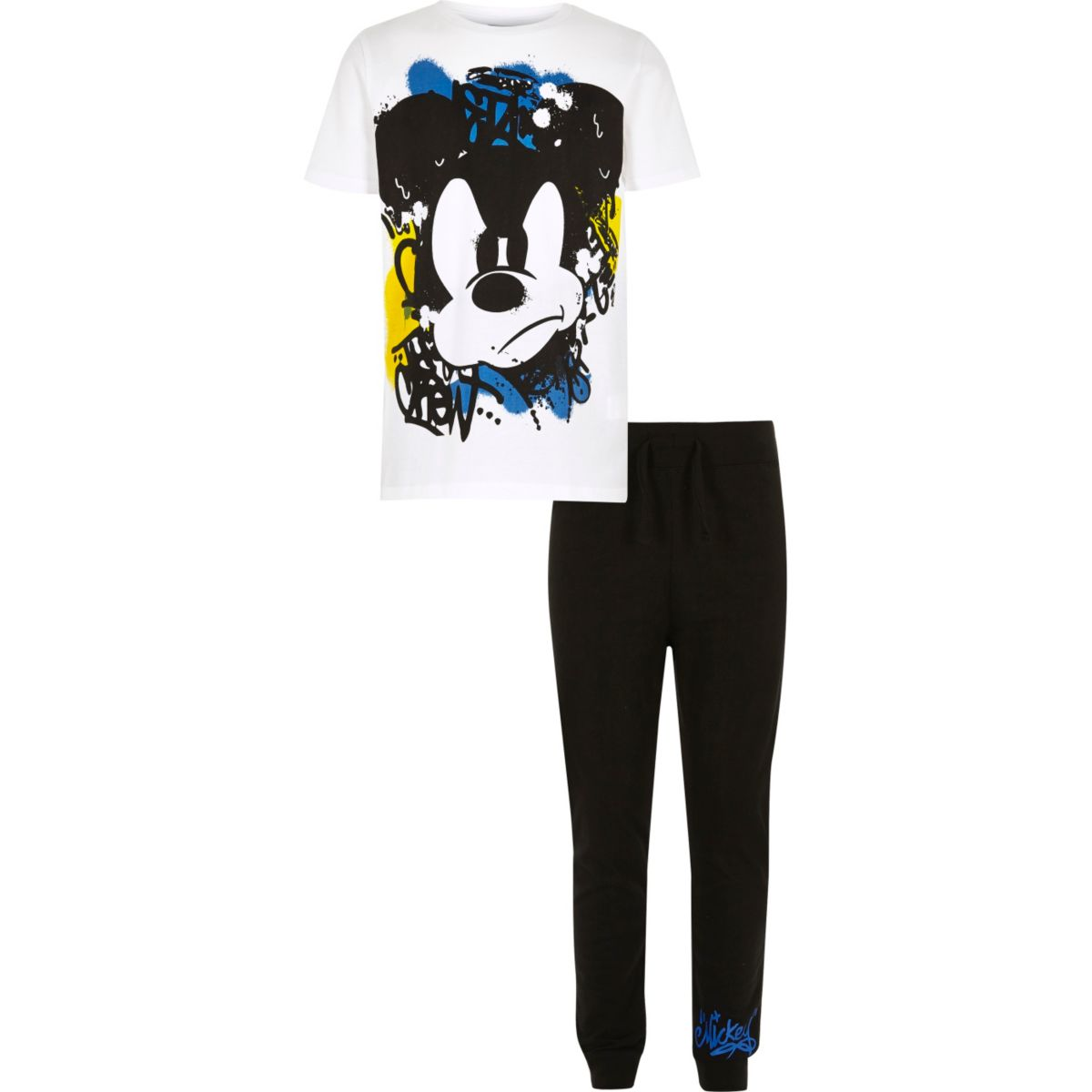 Boys white Mickey Mouse pajama set