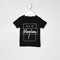 Mini boys black master of mayhem T-shirt
