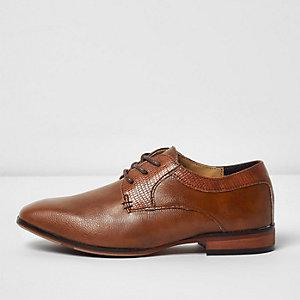 Chaussures Richelieu pointues marron fauve pour garçon