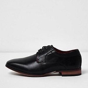 Chaussures Richelieu noires pointues pour garçon