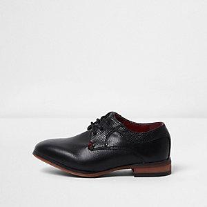 Chaussures Richelieu pointues noires mini garçon