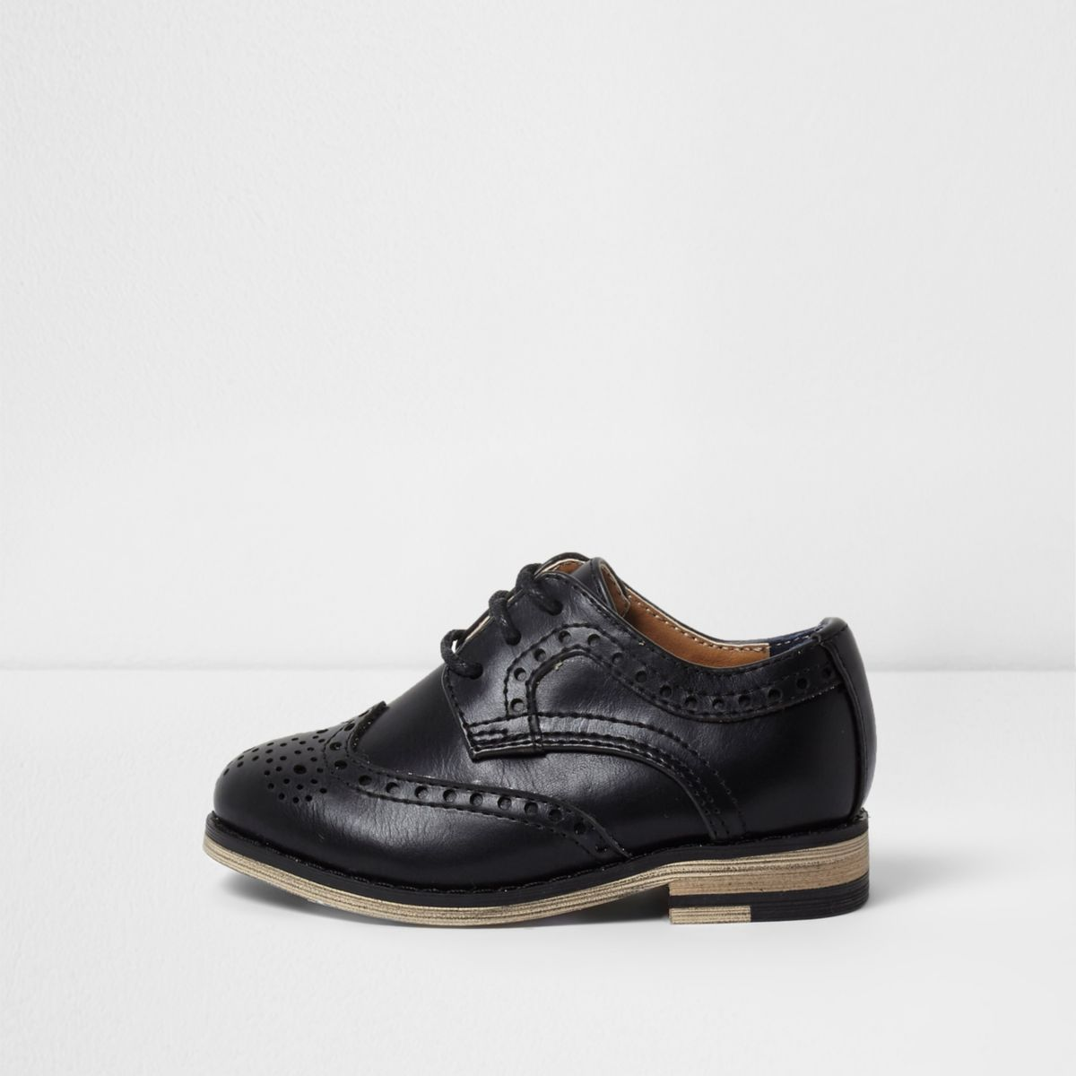Mini boys black brogues