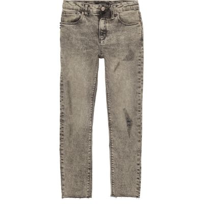 Sid Grijze ripped skinny jeans voor jongens