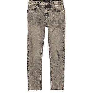 Sid - Grijze ripped skinny jeans voor jongens