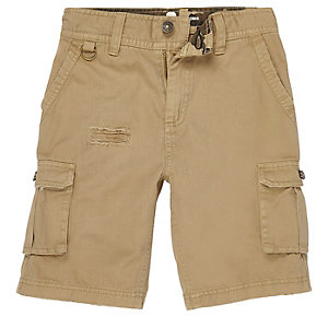 Boys light brown cargo shorts