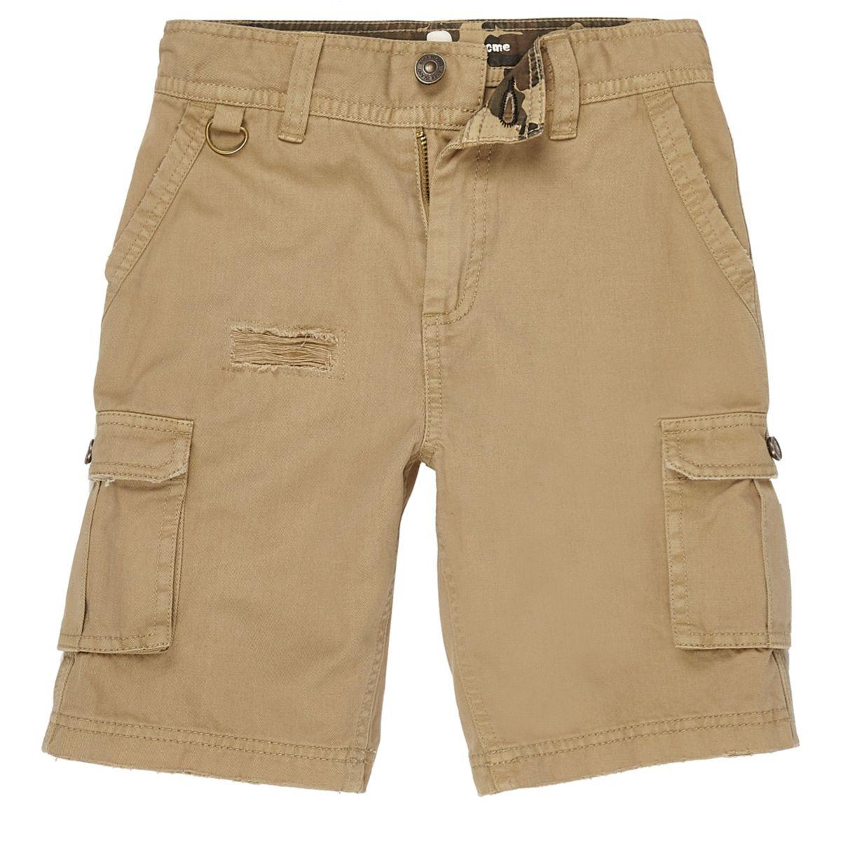 Boys light brown cargo shorts