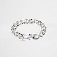 Boys silver tone chain bracelet