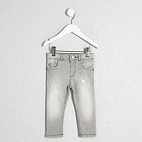 Mini boys grey fade Sid skinny fit jeans