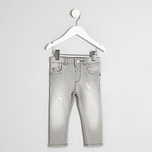 Mini boys grey fade Sid skinny fit jeans