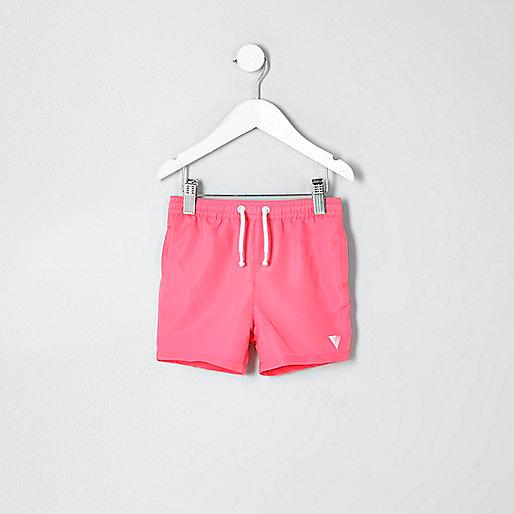 Mini boys coral print swim shorts