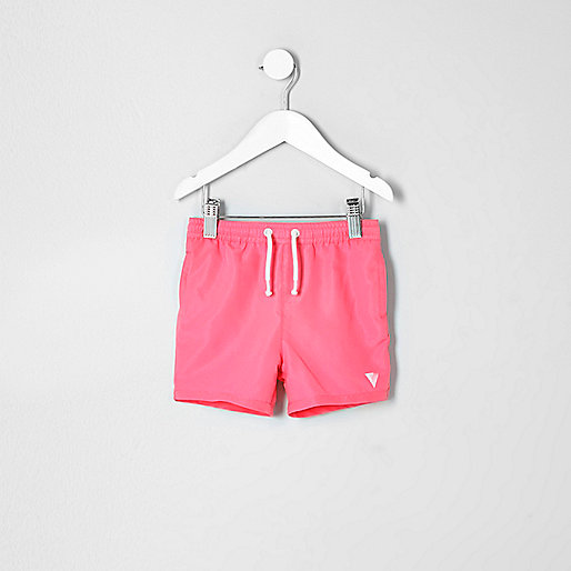 Mini boys coral print swim trunks