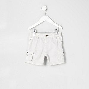 Graue Cargo-Shorts