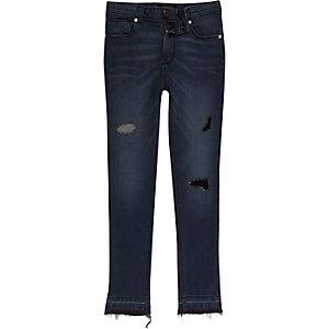 Sid - Blauwe denim ripped skinny jeans