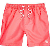 Boys coral print swim shorts