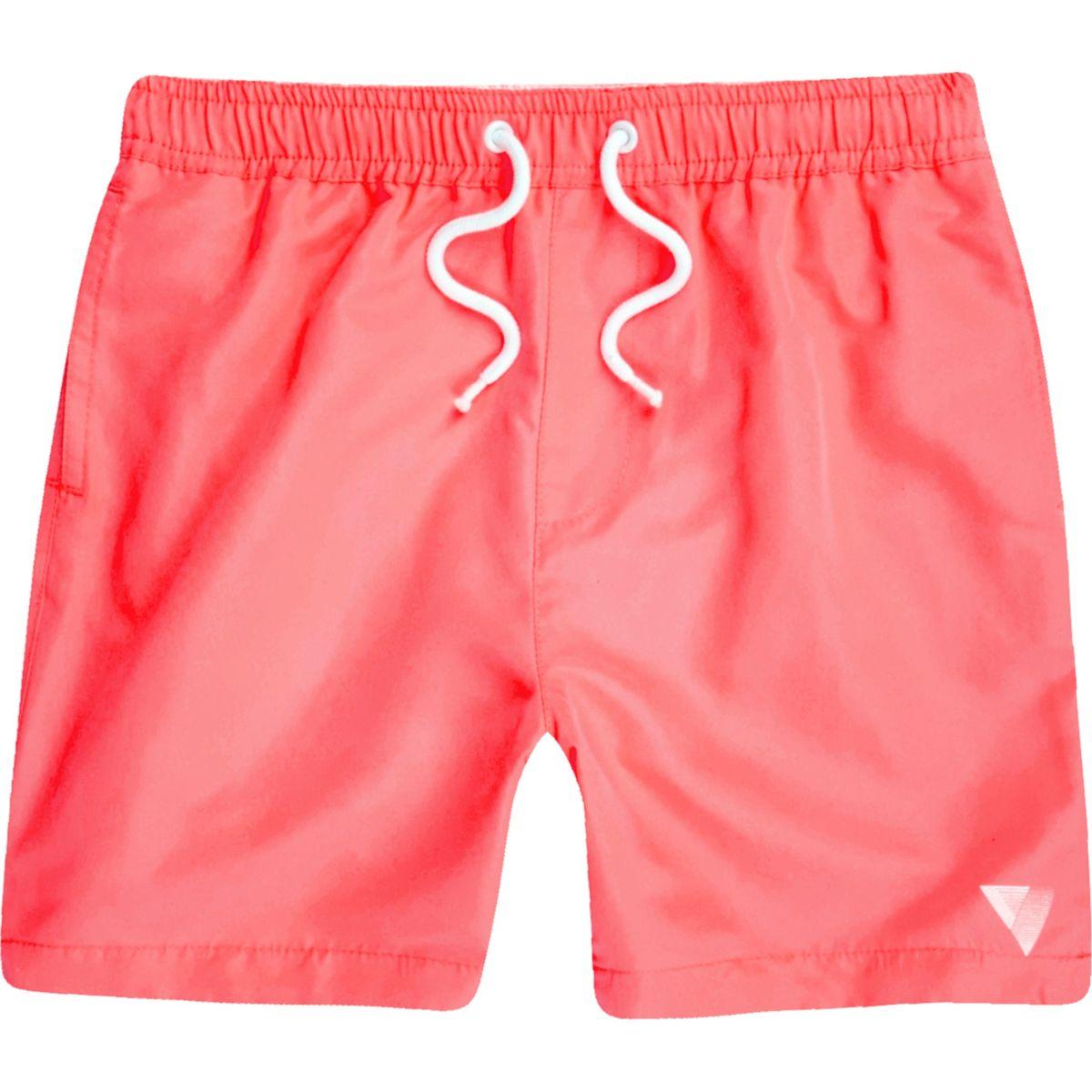 Boys coral print swim trunks