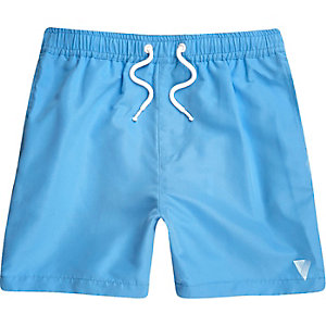 Boys blue print swim trunks