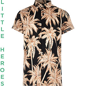 Chemise imprimé palmier à manches courtes garçon