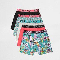 Boys tropical print boxers multipack