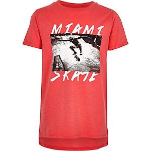 T-shirt à imprimé photo «Miami» rose pour garçon