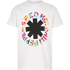 T-shirt Red Hot Chili Peppers blanc pour garçon