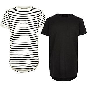T-Shirts in Weiß und Schwarz im Set