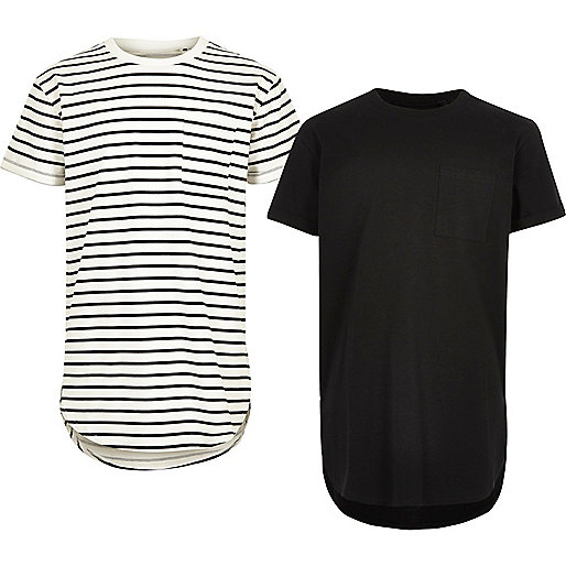 Boys white and black T-shirt multipack