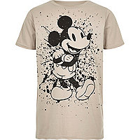 Boys cream Mickey Mouse T-shirt