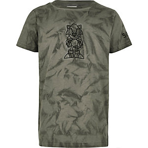 Boys grey Sonic embroidered T-shirt