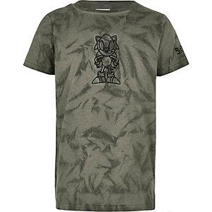 T-shirt gris brodé Sonic pour garçon