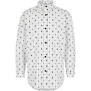Elegantes Hemd mit Totenkopfmotiv