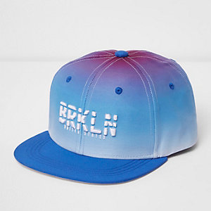 Casquette «Brooklyn» bleu effet dégradé à visière plate pour garçon