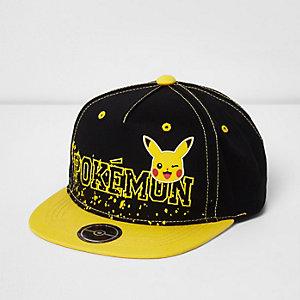 Boys black Pokemon flat peak cap