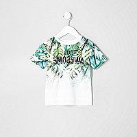 Grünes T-Shirt mit Palmenmotiv