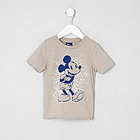 Mini boys stone Mickey Mouse print T-shirt