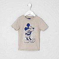 T-shirt imprimé Mickey Mouse grège mini garçon
