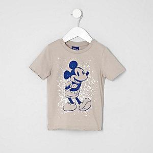 Mini boys stone Mickey Mouse print T-shirt