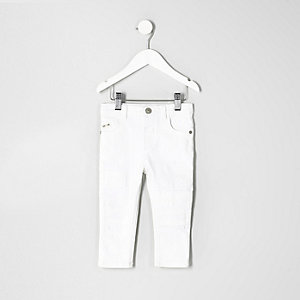 Sid – Weiße Skinny Jeans im Used-Look