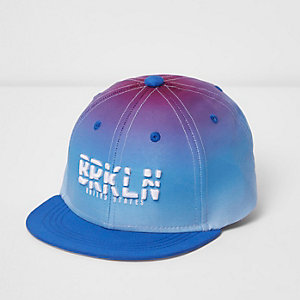 Boys white 'Brooklyn' ombre flat peak cap