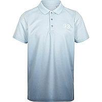 Boys blue fade polo shirt